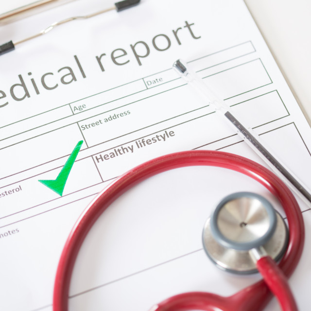 """Result of a medical analysis"" stock image"