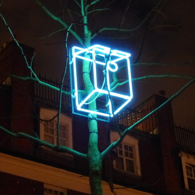 """Lumiere London Lighting Festival"" stock image"