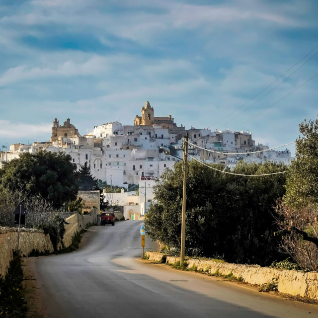 """Ostuni the white city"" stock image"