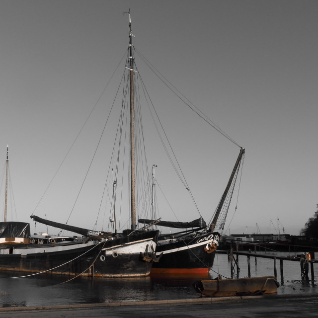 """Pin Mill on the River Orwell"" stock image"