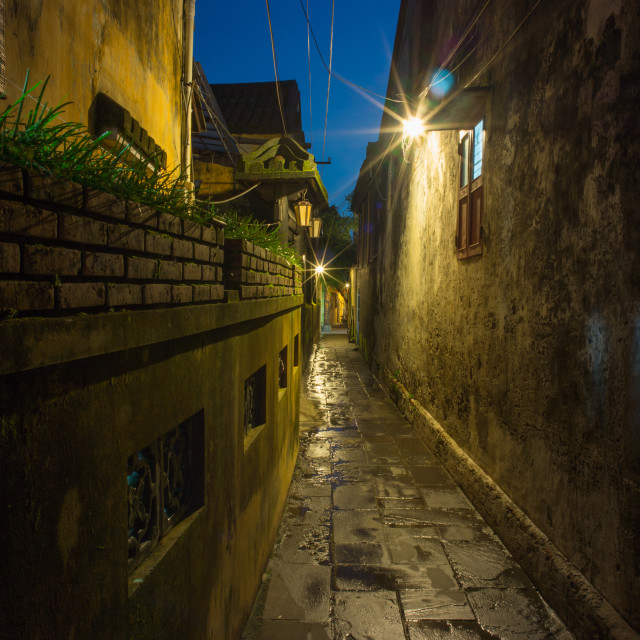 """The alley"" stock image"