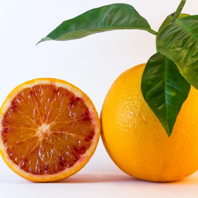"""Fresh Orange With Half"" stock image"
