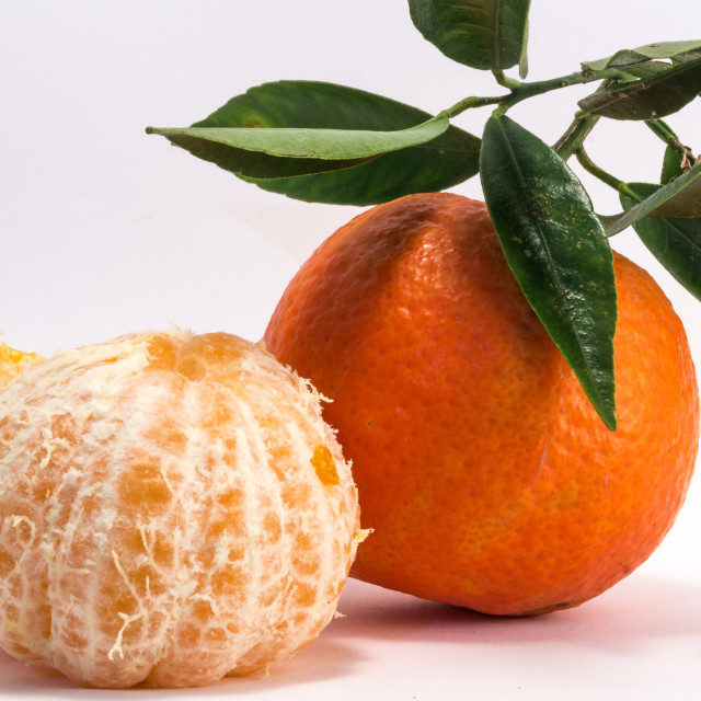 """Peeled Tangerine and Tangerine"" stock image"