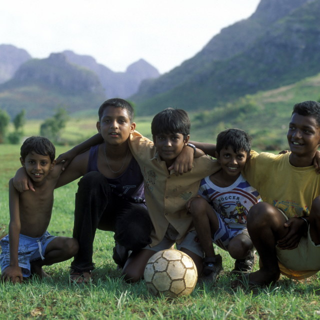"""INDIAN OCEAN MAURITIUS FOOTBALL SOCCER"" stock image"