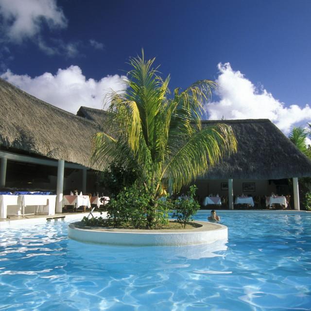 """INDIAN OCEAN MAURITIUS HOTEL BUNGALOW"" stock image"