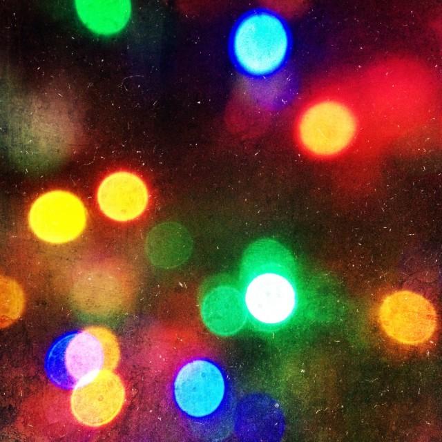 """""""Christmas tree lights"""" stock image"""