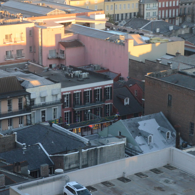 """Early Morning on Bourbon Street"" stock image"