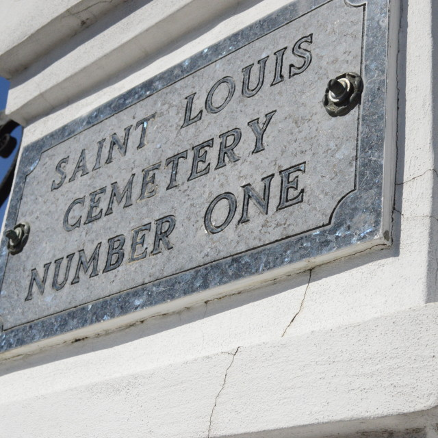 """Saint Louis Cemetery Number One"" stock image"