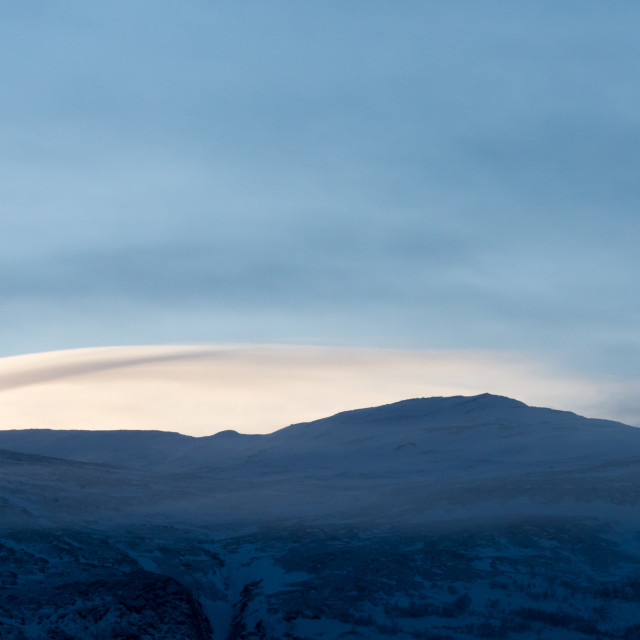 """""""Winter cloud over fell"""" stock image"""