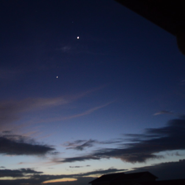 """Venus and Jupiter in Alignment"" stock image"