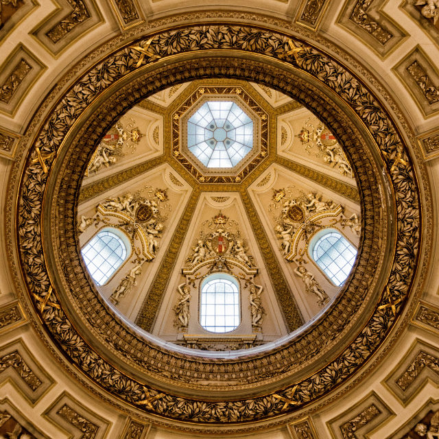 """Ceiling, Museum of Art History, Vienna"" stock image"