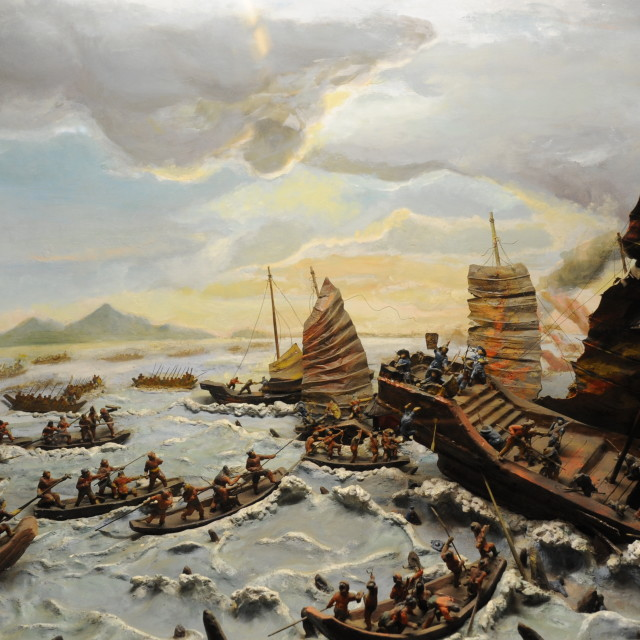 """""""the furious sea wars in ancient times"""" stock image"""
