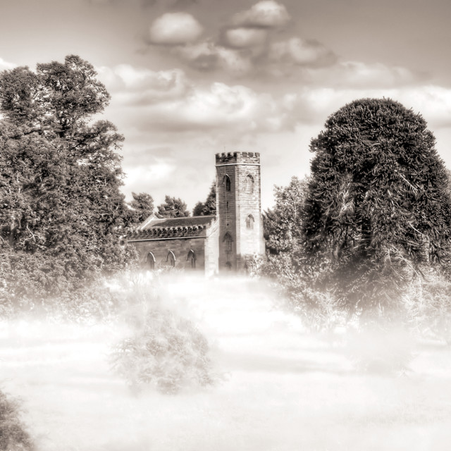 """Calke Abbey Church - Derbyshire"" stock image"