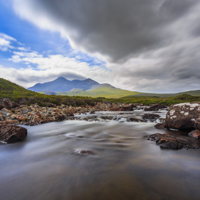"""""""The Cullins as from Sligachan - Isle of Skye"""" stock image"""
