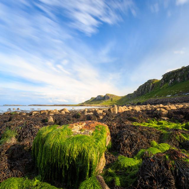 """Staffin Bay 2 - Isle of Skye - Scottish Highlands - Lee Big Stopper"" stock image"