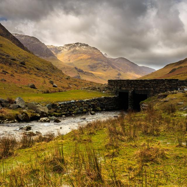 """Honister Pass Bridge - The Lake District - UK"" stock image"