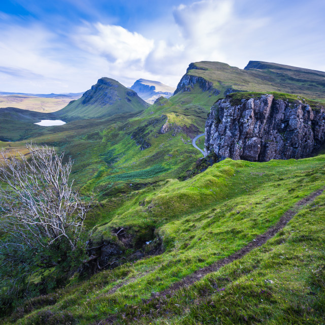 """The Quiraing - Isle of Skye Mountain Range - Scottish Highlands"" stock image"