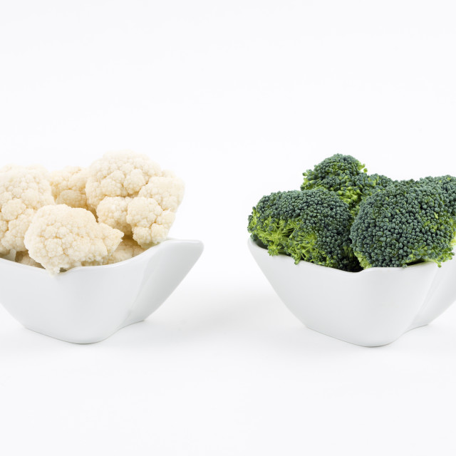 """Fresh broccoli and cauliflower"" stock image"