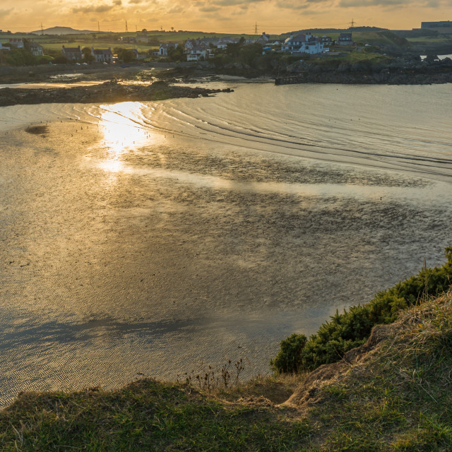 """""""Sunset at Cemaes Bay, Isle of Anglesey"""" stock image"""