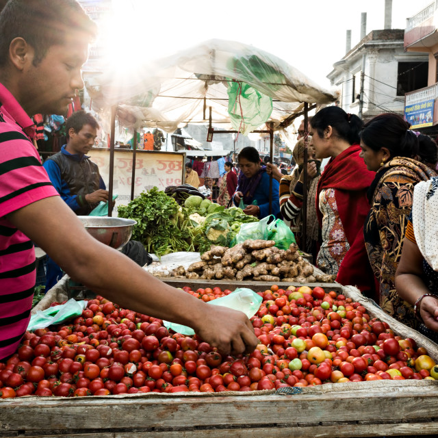 """Vegetable Market"" stock image"