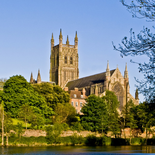 """""""Worcester Cathedral"""" stock image"""