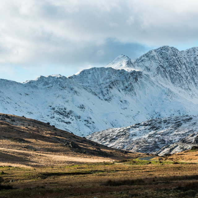 """Snowdonia Ridge"" stock image"