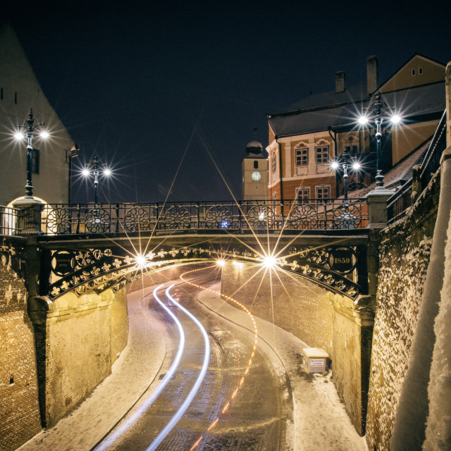 """Winter in Sibiu"" stock image"
