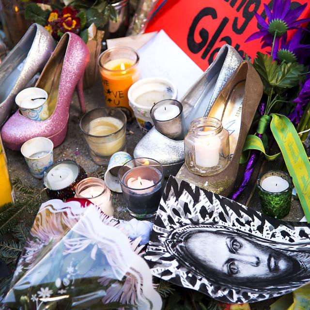 """Shrine to David Bowie"" stock image"