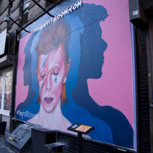 """David Bowie Mural in NYC"" stock image"