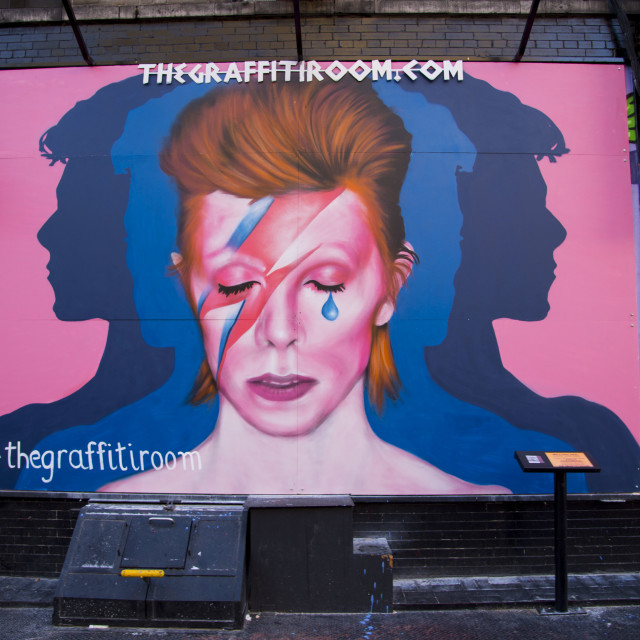 """David Bowie Mural East Village"" stock image"