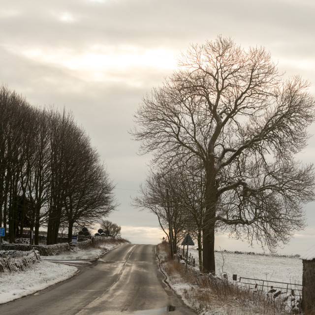 """""""Road to snow where"""" stock image"""