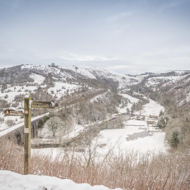 """Monsal Snow Walk"" stock image"