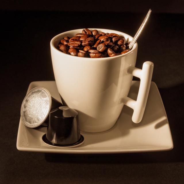 """Capsule Coffee"" stock image"