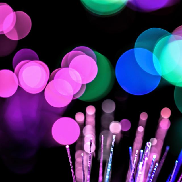 """Colored bokeh balls"" stock image"