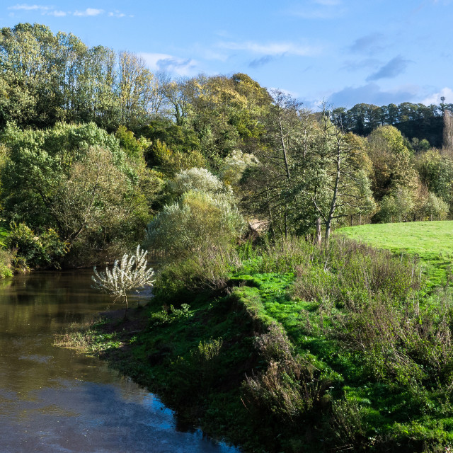 """""""Teme Valley, Worcestershire"""" stock image"""