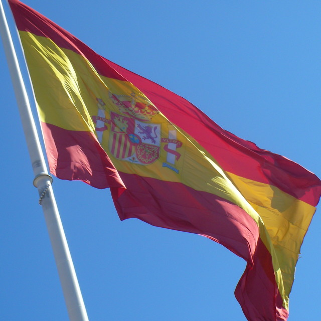 """Spanish Flag"" stock image"