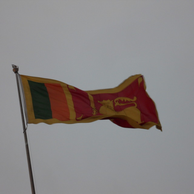 """Flag of Sri Lanka"" stock image"