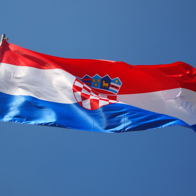 """Flag of Croatia"" stock image"