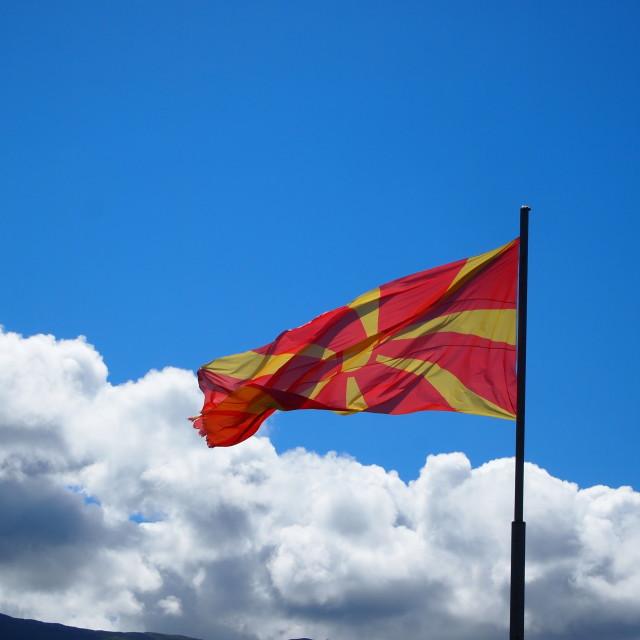 """Macedonia flag"" stock image"