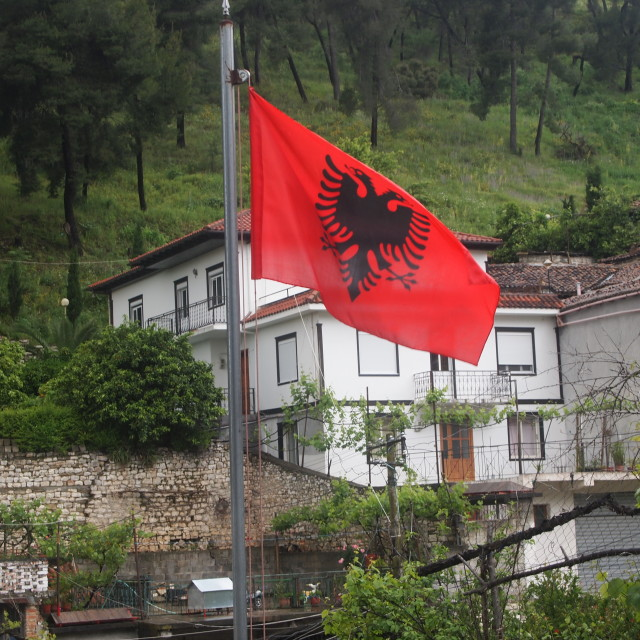 """Flag of Albania"" stock image"