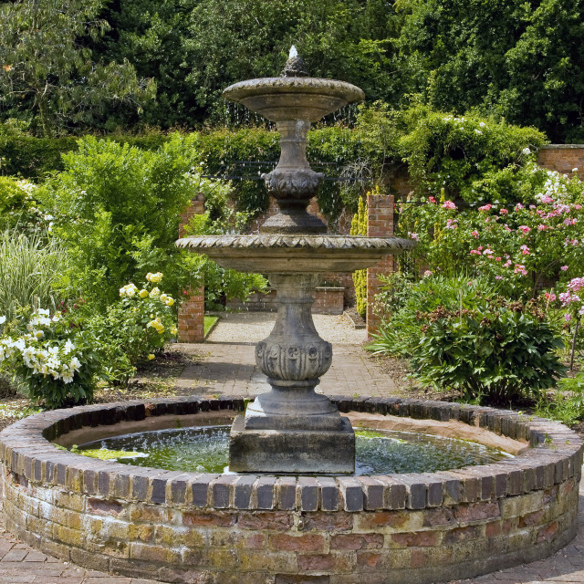"""""""Spetchley Gardens, Worcester"""" stock image"""