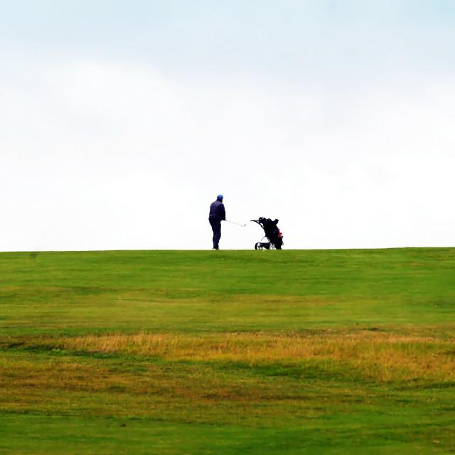 """Lone Golfer"" stock image"