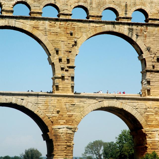 """""""Pont du Gard detailed"""" stock image"""