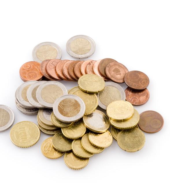 """Euro coins"" stock image"