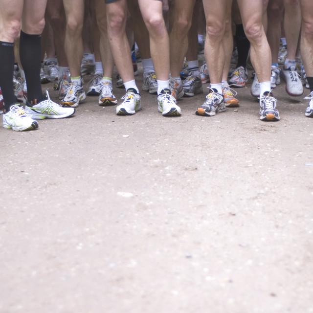 """Starting marathon"" stock image"