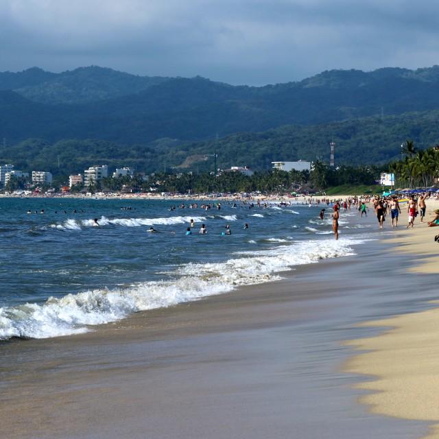 """""""vallarta beach"""" stock image"""