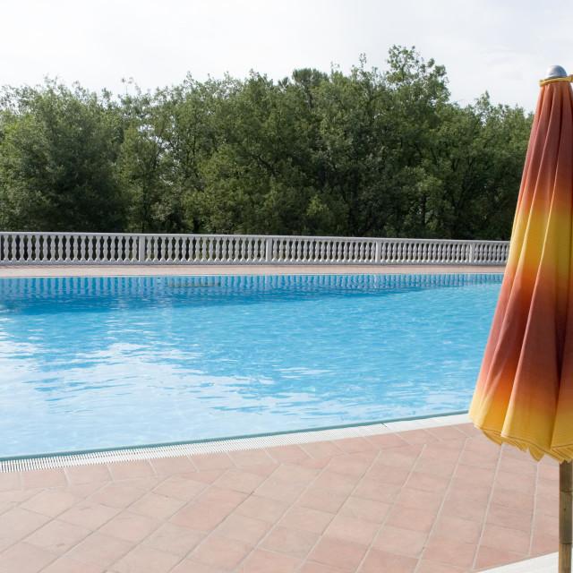"""swimmingpool with balustrade"" stock image"