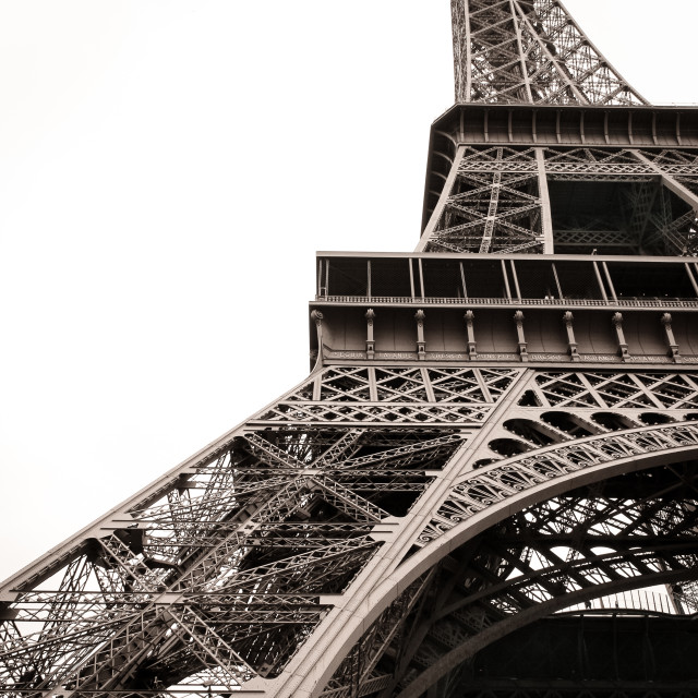 """""""Looking up the Eiffel"""" stock image"""