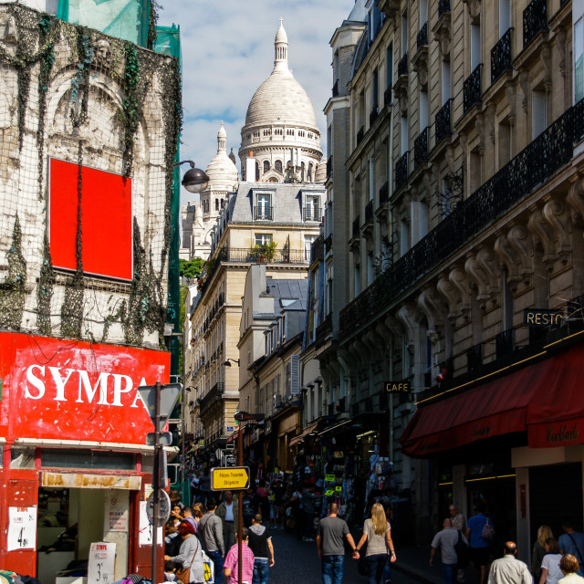 """""""Monmartre from the street"""" stock image"""