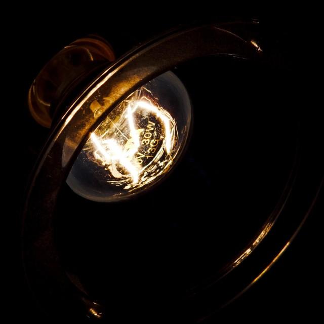 """""""Lightbulb's Spark"""" stock image"""